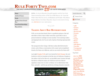 rulefortytwo.com screenshot