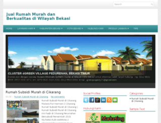 rumahdijualbekasi.com screenshot