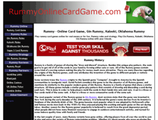 rummyonlinecardgame.com screenshot