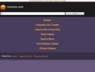 rumorex.com screenshot