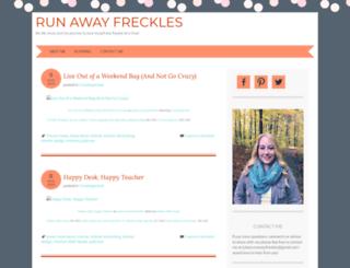 runawayfreckles.wordpress.com screenshot