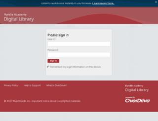 rundleca.libraryreserve.com screenshot
