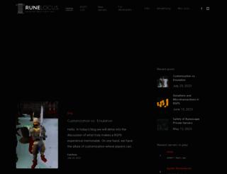 runelocus.com screenshot