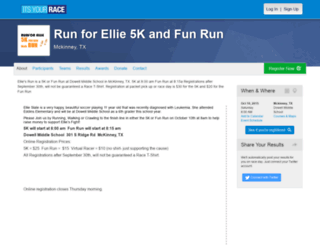 runforellie.itsyourrace.com screenshot
