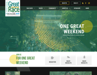 rungreatrace.com screenshot