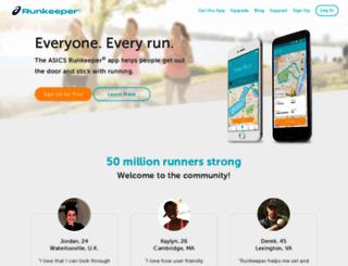 runkeeper.com screenshot