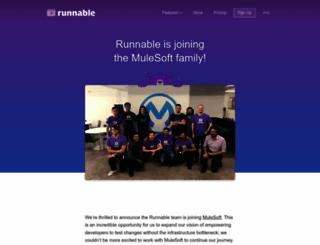runnable.com screenshot