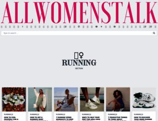running.allwomenstalk.com screenshot