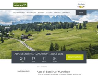 running.seiseralm.it screenshot