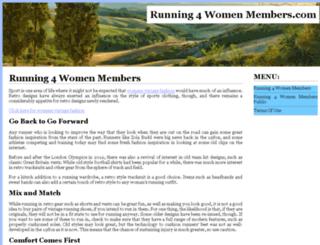 running4womenmembers.com screenshot