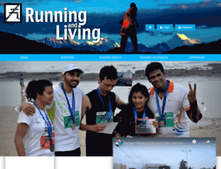 runningandliving.com screenshot