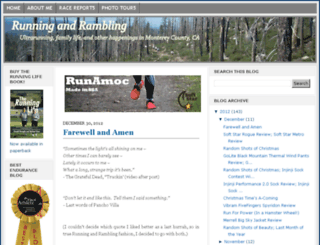 runningandrambling.com screenshot