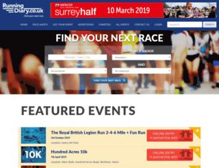 runningdiary.co.uk screenshot