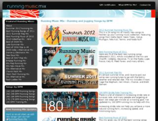 runningmusicmix.com screenshot