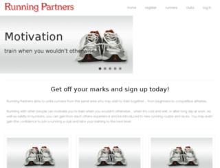 runningpartners.org.uk screenshot