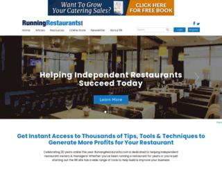 runningrestaurants.com screenshot