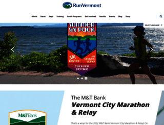 runvermont.org screenshot