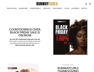 runwaycurls.com screenshot
