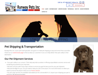 runwaypets.com screenshot