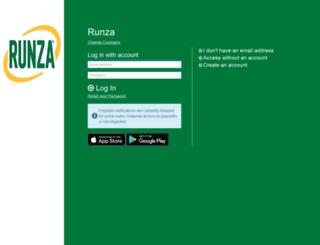 runza.greenemployee.com screenshot