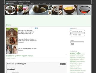 ruokaohjereseptit.fi screenshot
