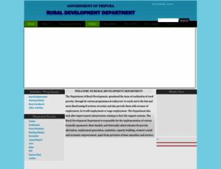rural.tripura.gov.in screenshot