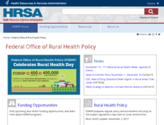 ruralhealth.hrsa.gov screenshot