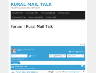 ruralmailtalk.ruralinfo.net screenshot