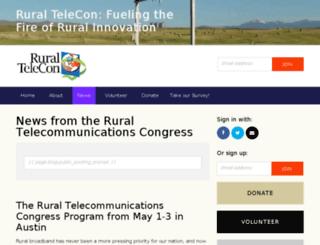 ruraltelecon.org screenshot