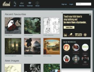 rusalka.elfwood.com screenshot