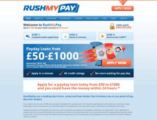 rush-my-pay.co.uk screenshot