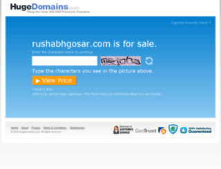 rushabhgosar.com screenshot