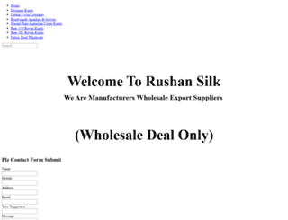rushansilk.in screenshot