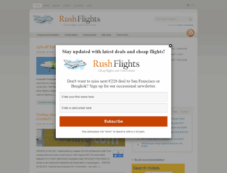 rushflights.com screenshot