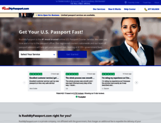 rushmypassport.com screenshot