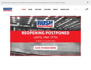 rushskatepark.co.uk screenshot