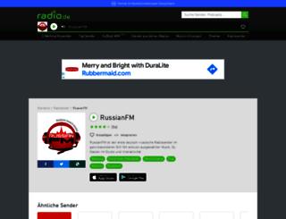 russianfm.radio.de screenshot