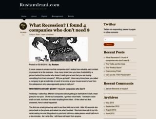 rustamirani.com screenshot