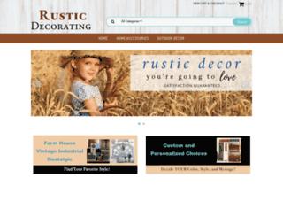 rusticdecorating.com screenshot