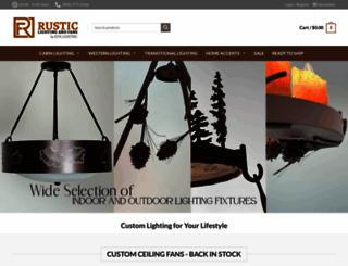 rusticlightingandfans.com screenshot