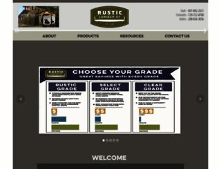 rusticlumberco.com screenshot