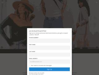 rusticthread.com screenshot