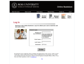 rusvmbookstore.rossu.edu screenshot