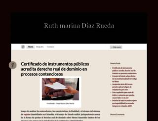 ruthmarinadiazrued.wordpress.com screenshot