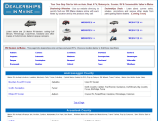 rvdealersinmaine.com screenshot