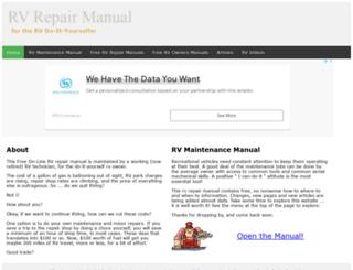 rvrepairmanual.com screenshot
