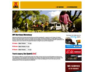 rvservices.koa.com screenshot