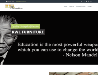 rwlfurniture.co.za screenshot