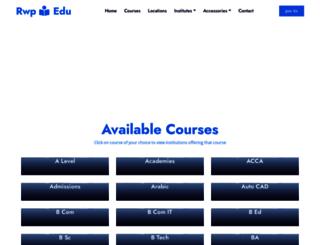 rwp.edu.pk screenshot
