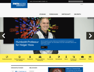 rwth-aachen.de screenshot